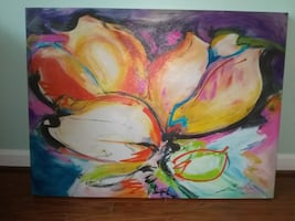 Acrylic Canvas Flower Painting - Awesome!