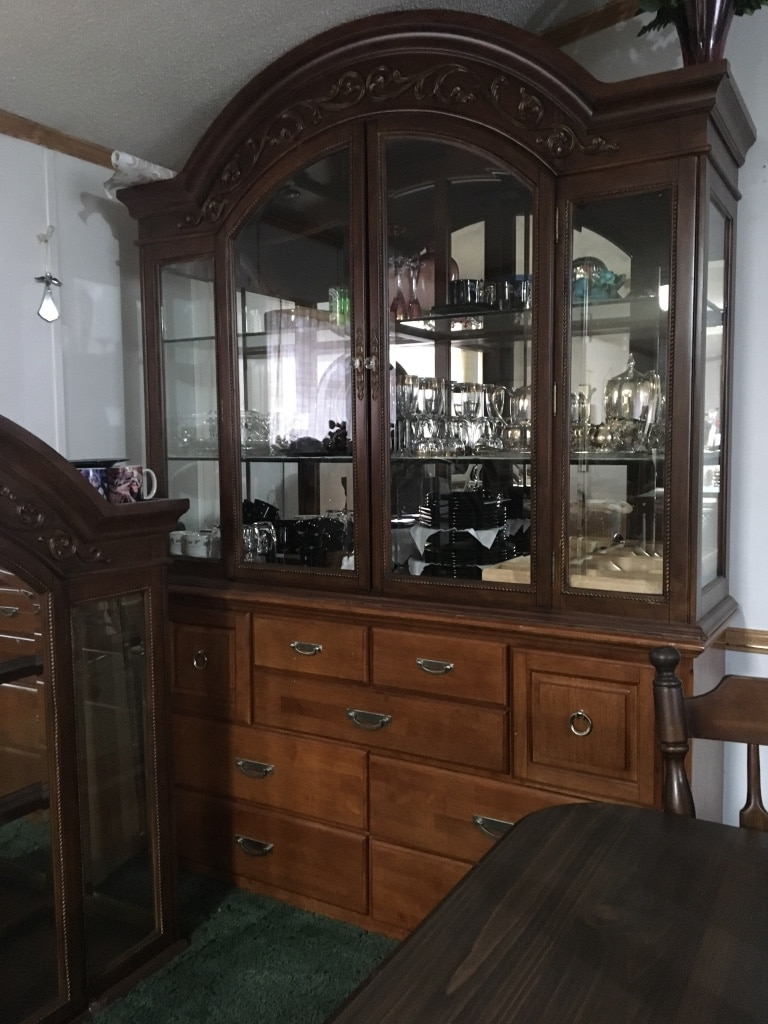 Brand New Kathy Ireland China Cabinet With Glass Shelves. Reasonable Offers  Considered