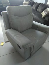 gray leather padded rolling armchair Lakeland, 33811