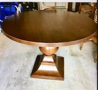 "48"" round table and 4 ladder back chairs from Pier One Gaithersburg, 20878"
