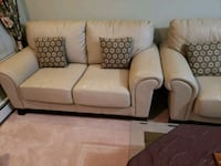 white and brown 3-seat sofa 3732 km