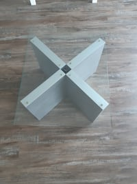 Glass top side table (end/accent/coffee table)