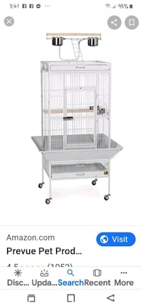 Used parrot cage