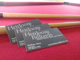 Heirloom Billiards game room services