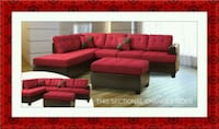 Red sectional with ottoman Gaithersburg
