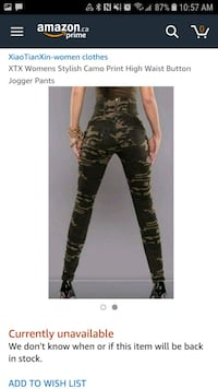 Brand new high waist camo pants 704 km
