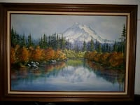 brown wooden framed painting of trees Calgary, T2Y 4X1