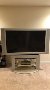 Gray flat screen television with tv stand Palmyra, 22963