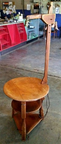 Antique Solid Wood Table With Lamp Oklahoma City, 73108