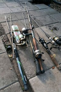 Fishing poles five of them