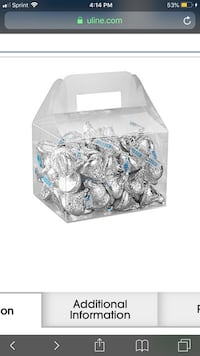 Clear party favor boxes