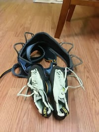 Wall climbing harness and shoes size 7-71\2 Midway, 31320