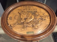 Wayne Gretzky Wood Carving with first and last game stats, best player Whitchurch-Stouffville, L4A 0S8