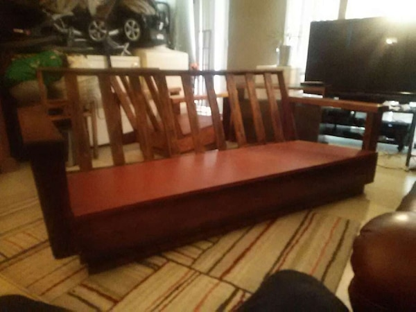 Koa Wood Couch And Chair