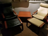 two black-and-brown sofa chairs Edmonton