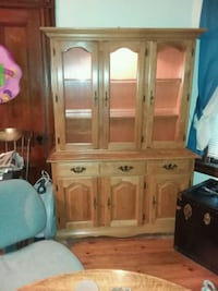 brown wooden china buffet hutch Lawrence, 01843