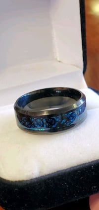 Stainless Steel, Blue Dragon Pattern/Style Ring Portland, 97215