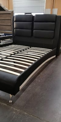 Brand New Queen Size Leather Platform Bed Frame Silver Spring, 20902