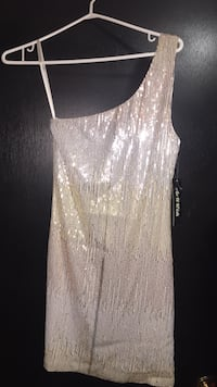 White and rose gold sequin dress Stoney Creek, L8E