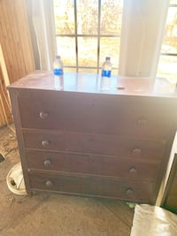 Antique Dresser, large drawers slide well, except bottom drawer won't open, seems to be stuck.  Raleigh, 27615