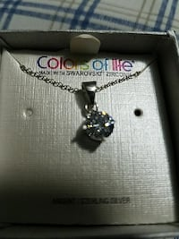 silver-colored Diamond pendant chain necklace with Wentzville, 63385