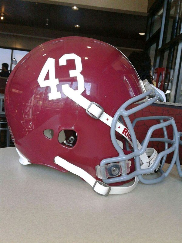 918fe5579fa Used Alabama crimson Tide game used  43 football helmet for sale in  Scottdale - letgo