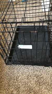 black metal folding dog crate Longmont, 80503