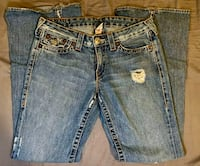 True Religion,  Bobby Big T, 100% Cotton Rainbow Stitched. Size 31 Ocean Springs, 39564