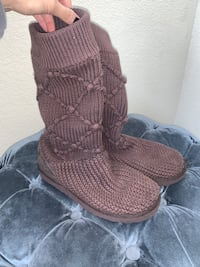 UGG Chocolate Brown Knit Boots