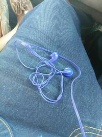 blue corded headset