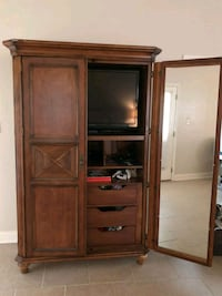 brown wooden TV hutch with cabinet Lafayette, 70508