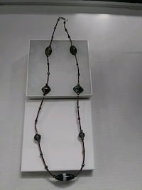 black and silver beaded necklace Waldorf, 20603