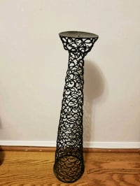 black and white floral candle holder Gaithersburg, 20886