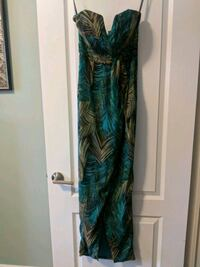 Palm print strapless dress  Barrie, L4N