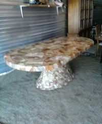 Colossal mosak onyx racetrack table by muller