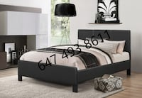 BRAND NEW PU-LEATHER BED FRAME WITH SPRING MATTRESS & FREE DELIVERY TORONTO