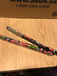 Black and pink floral hair flat iron Calgary, T2Z
