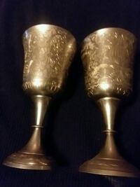 """Vintage Goblet From World Gift Z.Y.India 6 1/2""""   Athol, 01331"""