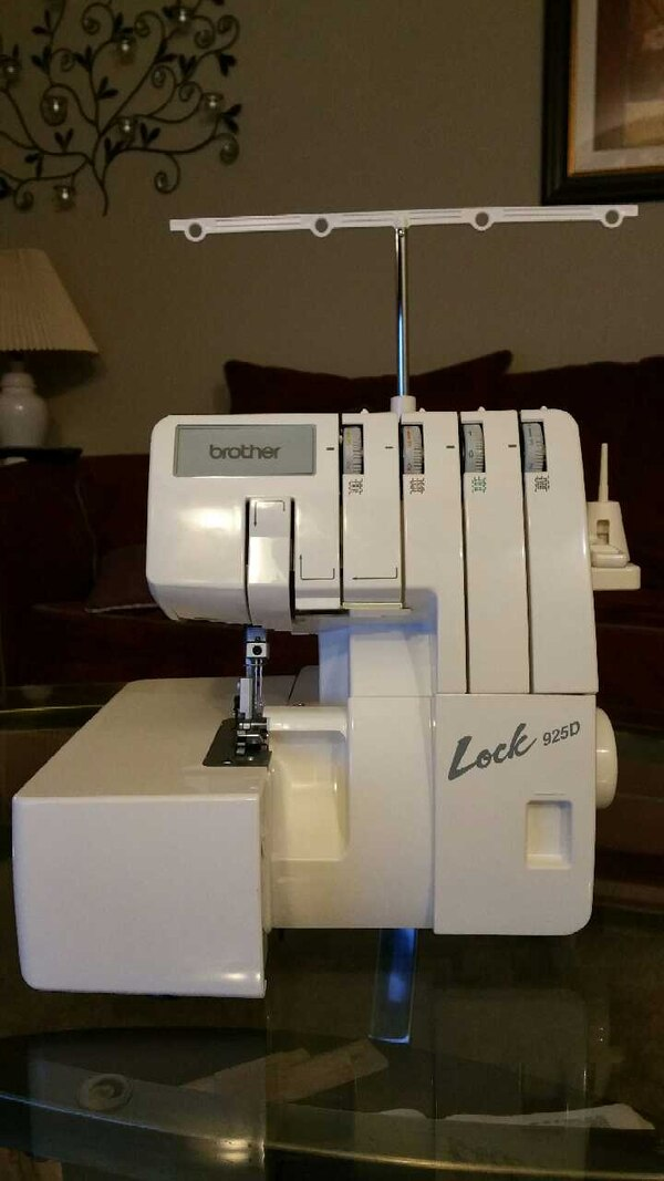 Used Brother Serger Sewing Machine For Sale In Grove City Letgo Custom Brother Serger Sewing Machine