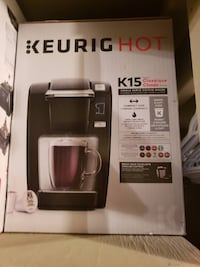 black Keurig Hot coffee maker box null