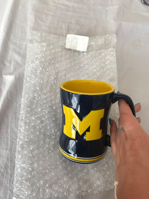 Michigan Wolverines Sculpted Coffee Mug 2