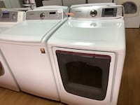 Samsung white washer and dryer set 29 mi