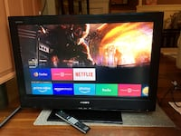 """32"""" Sony Bravia TV With Remote East Islip"""