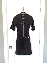 New XS Suzy Shier black dress with gold accents Calgary, T2E 0H4