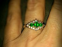 Real diamond and emerald 14k ring size 6 Chattanooga, 37415