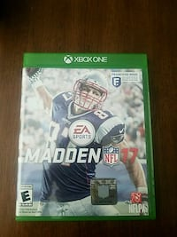 Madden NFL 17 Xbox One game case Fort Atkinson, 53538
