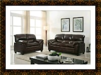 Burgundy sofa and loveseat free delivery Crofton