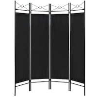 BCP 6ft 4-Panel Folding Privacy Screen Room Divider Decoration Accent Springfield