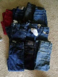 four blue denim jeans and two black denim shorts Silver Spring, 20904