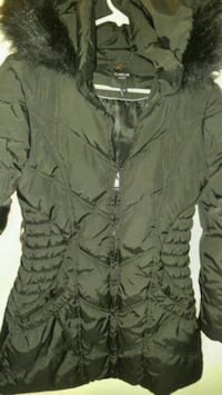 bebe black winter jacket size small Vancouver, V5R 5P4